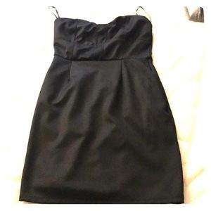 Urban Outfitters Black Strapless Dress